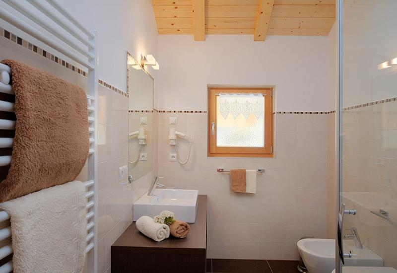 bathroom with shower − apartment St. Hippolyt