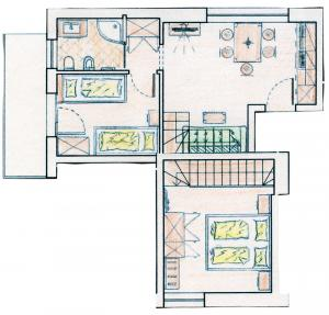 Floor plan of apartment − apartment St. Peter