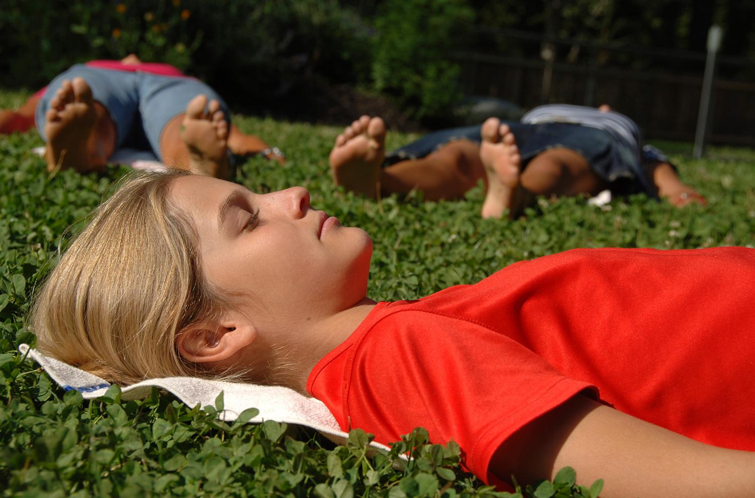 Relaxation exercises in nature